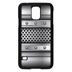 Iron Content Hole Mix Polka Dot Circle Silver Samsung Galaxy S5 Case (black) by Mariart