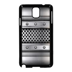 Iron Content Hole Mix Polka Dot Circle Silver Samsung Galaxy Note 3 Neo Hardshell Case (black) by Mariart
