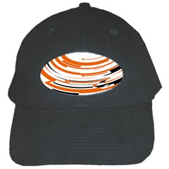 Hole Black Orange Arrow Black Cap by Mariart