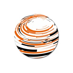 Hole Black Orange Arrow Magnet 3  (round) by Mariart