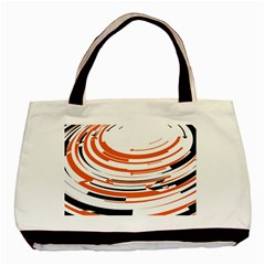 Hole Black Orange Arrow Basic Tote Bag by Mariart