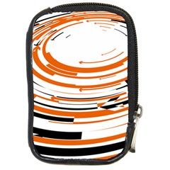 Hole Black Orange Arrow Compact Camera Cases by Mariart