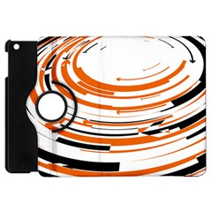 Hole Black Orange Arrow Apple Ipad Mini Flip 360 Case by Mariart