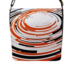 Hole Black Orange Arrow Flap Messenger Bag (l)  by Mariart