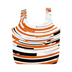 Hole Black Orange Arrow Full Print Recycle Bags (m)  by Mariart