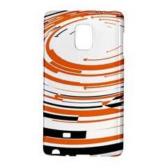 Hole Black Orange Arrow Galaxy Note Edge by Mariart