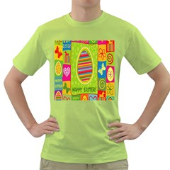 Happy Easter Butterfly Love Flower Floral Color Rainbow Green T Shirt by Mariart