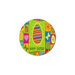 Happy Easter Butterfly Love Flower Floral Color Rainbow Golf Ball Marker by Mariart
