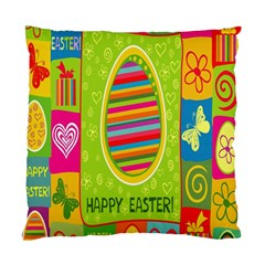 Happy Easter Butterfly Love Flower Floral Color Rainbow Standard Cushion Case (two Sides) by Mariart