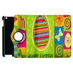 Happy Easter Butterfly Love Flower Floral Color Rainbow Apple iPad 2 Flip 360 Case Front