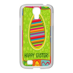 Happy Easter Butterfly Love Flower Floral Color Rainbow Samsung Galaxy S4 I9500/ I9505 Case (white)