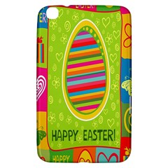 Happy Easter Butterfly Love Flower Floral Color Rainbow Samsung Galaxy Tab 3 (8 ) T3100 Hardshell Case  by Mariart