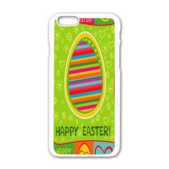 Happy Easter Butterfly Love Flower Floral Color Rainbow Apple Iphone 6/6s White Enamel Case by Mariart