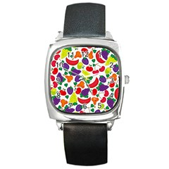 Fruite Watermelon Square Metal Watch by Mariart