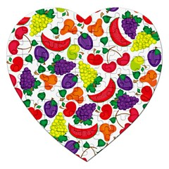 Fruite Watermelon Jigsaw Puzzle (heart) by Mariart