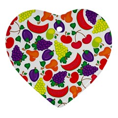 Fruite Watermelon Heart Ornament (two Sides) by Mariart