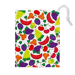Fruite Watermelon Drawstring Pouches (extra Large) by Mariart
