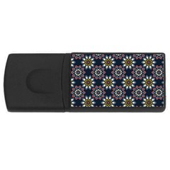 Floral Flower Star Blue Usb Flash Drive Rectangular (4 Gb) by Mariart