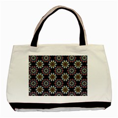 Floral Flower Star Blue Basic Tote Bag (two Sides) by Mariart