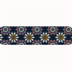 Floral Flower Star Blue Large Bar Mats by Mariart