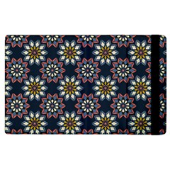 Floral Flower Star Blue Apple Ipad 2 Flip Case by Mariart