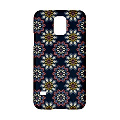 Floral Flower Star Blue Samsung Galaxy S5 Hardshell Case  by Mariart