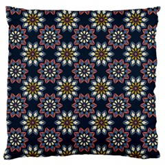 Floral Flower Star Blue Standard Flano Cushion Case (two Sides) by Mariart