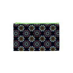 Floral Flower Star Blue Cosmetic Bag (xs) by Mariart