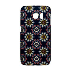 Floral Flower Star Blue Galaxy S6 Edge by Mariart