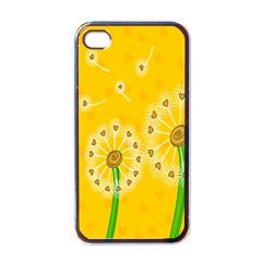Leaf Flower Floral Sakura Love Heart Yellow Orange White Green Apple Iphone 4 Case (black) by Mariart