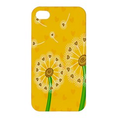 Leaf Flower Floral Sakura Love Heart Yellow Orange White Green Apple Iphone 4/4s Hardshell Case