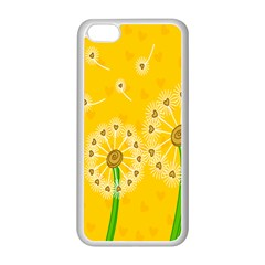 Leaf Flower Floral Sakura Love Heart Yellow Orange White Green Apple Iphone 5c Seamless Case (white) by Mariart