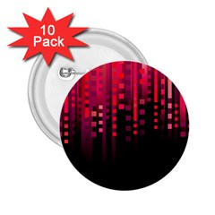 Line Vertical Plaid Light Black Red Purple Pink Sexy 2 25  Buttons (10 Pack)