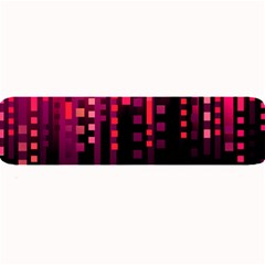 Line Vertical Plaid Light Black Red Purple Pink Sexy Large Bar Mats by Mariart