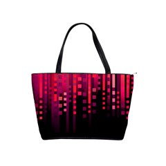 Line Vertical Plaid Light Black Red Purple Pink Sexy Shoulder Handbags by Mariart