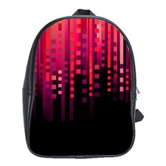 Line Vertical Plaid Light Black Red Purple Pink Sexy School Bags(large)