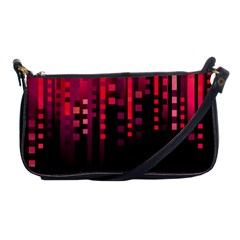 Line Vertical Plaid Light Black Red Purple Pink Sexy Shoulder Clutch Bags by Mariart