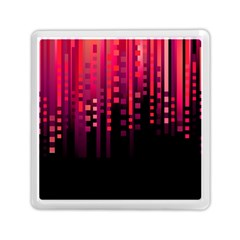 Line Vertical Plaid Light Black Red Purple Pink Sexy Memory Card Reader (square)  by Mariart