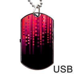 Line Vertical Plaid Light Black Red Purple Pink Sexy Dog Tag Usb Flash (one Side) by Mariart