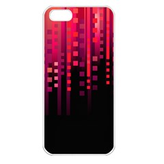 Line Vertical Plaid Light Black Red Purple Pink Sexy Apple Iphone 5 Seamless Case (white) by Mariart