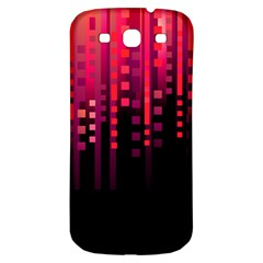 Line Vertical Plaid Light Black Red Purple Pink Sexy Samsung Galaxy S3 S Iii Classic Hardshell Back Case by Mariart
