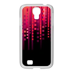 Line Vertical Plaid Light Black Red Purple Pink Sexy Samsung Galaxy S4 I9500/ I9505 Case (white) by Mariart