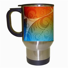 Leaf Color Sam Rainbow Travel Mugs (white) by Mariart