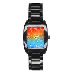 Leaf Color Sam Rainbow Stainless Steel Barrel Watch by Mariart