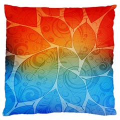 Leaf Color Sam Rainbow Large Flano Cushion Case (two Sides) by Mariart
