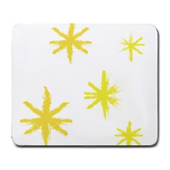 Line Painting Yellow Star Large Mousepads by Mariart