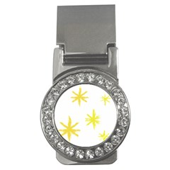 Line Painting Yellow Star Money Clips (cz)  by Mariart