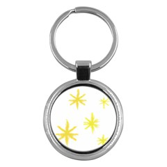 Line Painting Yellow Star Key Chains (round)  by Mariart