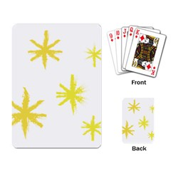 Line Painting Yellow Star Playing Card by Mariart