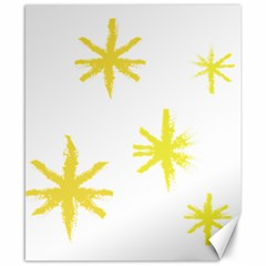 Line Painting Yellow Star Canvas 8  X 10  by Mariart